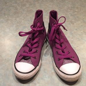 Converse Leather hightop runners